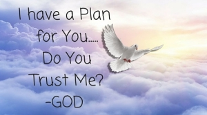 I have a Plan for You! Do You Trust Me--GOD